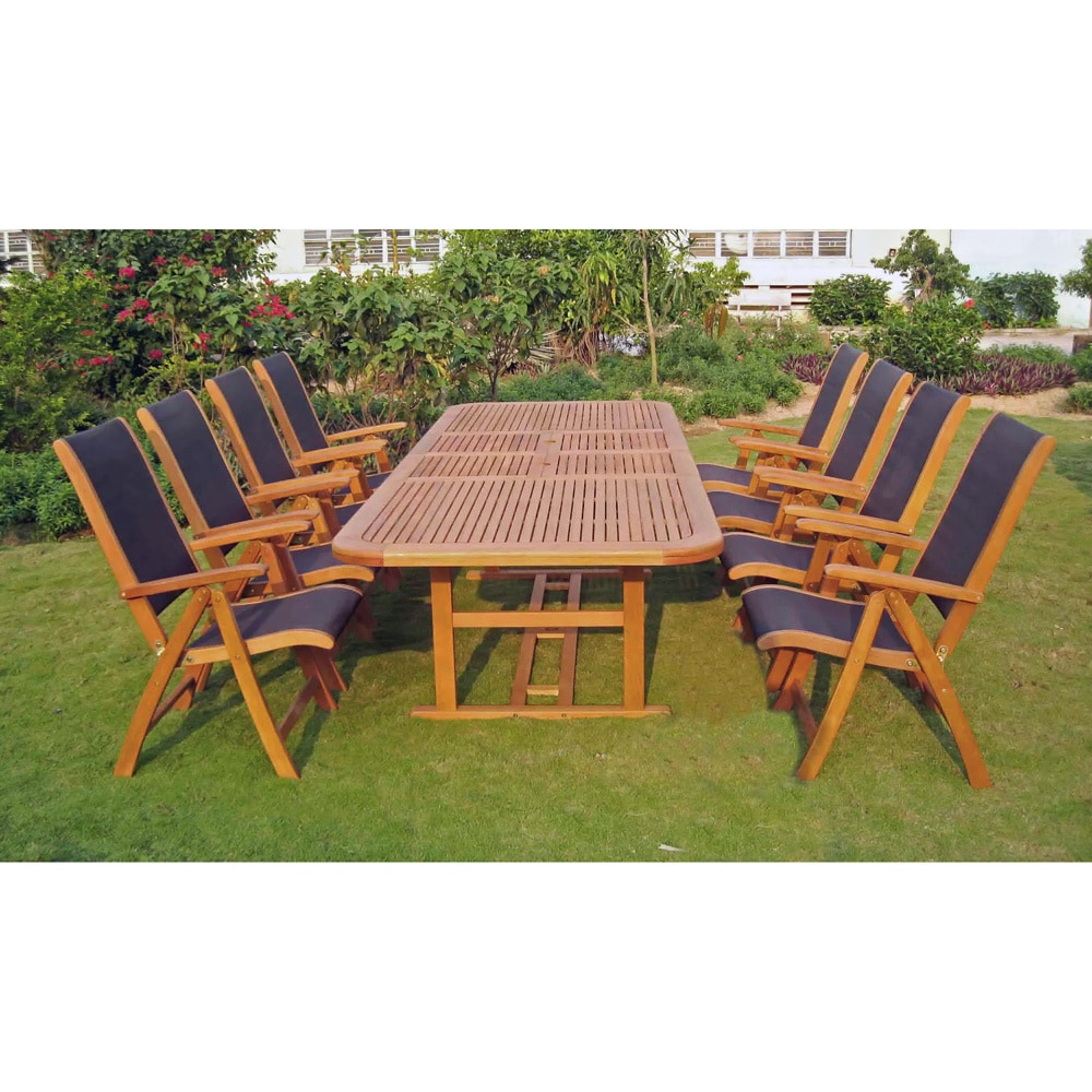 9 Piece Outdoor Dining Set International Caravan Royal Tahiti Paloma 9 Piece Outdoor Dining Set