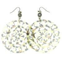 Mi Amore - Cheetah Print Dangle Earrings For Women Gold ...