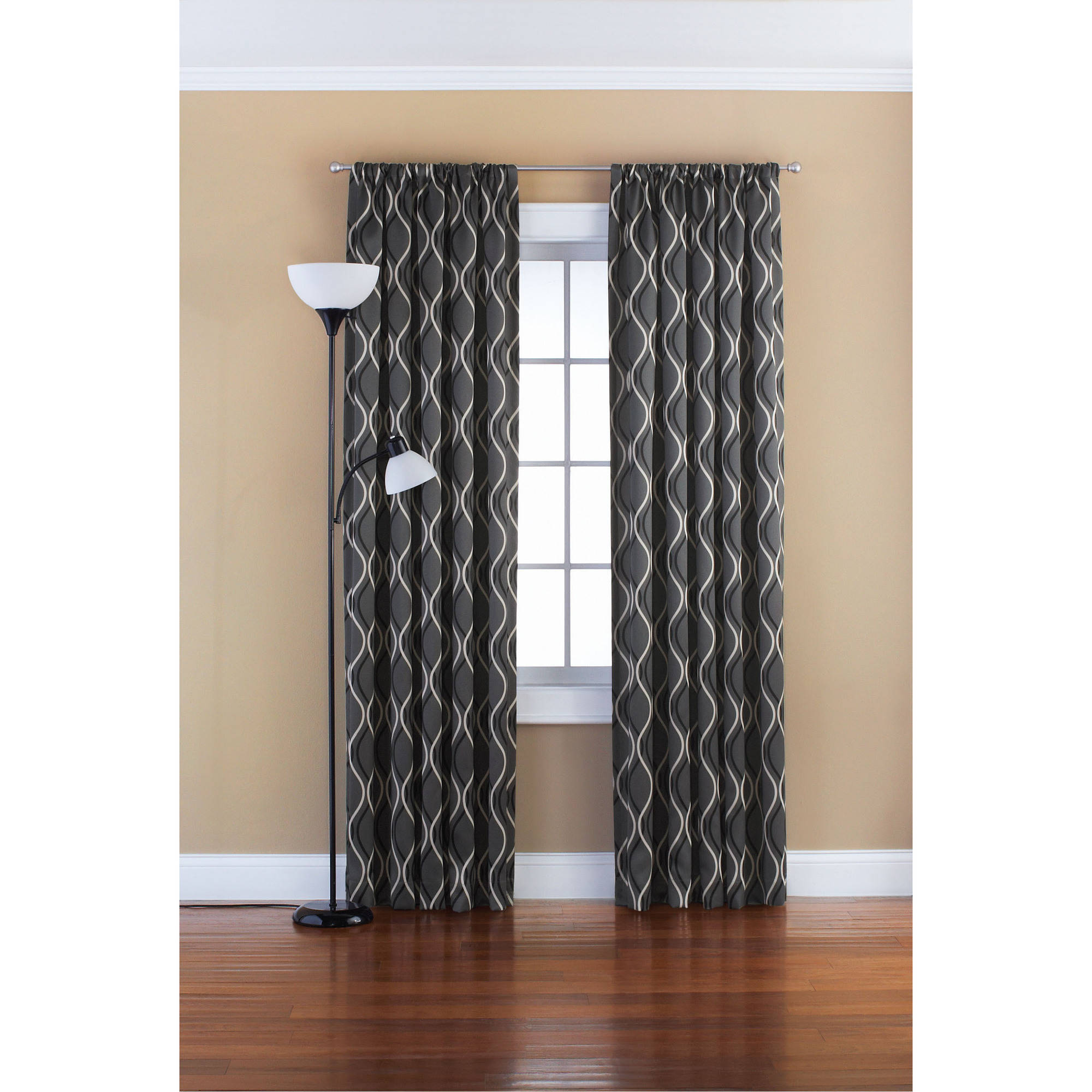 Grey Thermal Curtains Eclipse Samara Room Darkening Energy Efficient Thermal Curtain Panel