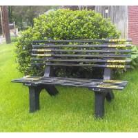 Ski Chair Hockey Stick Recycled Plastic Garden Bench