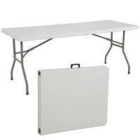 Folding Table 6' Portable Plastic Indoor Outdoor Picnic ...