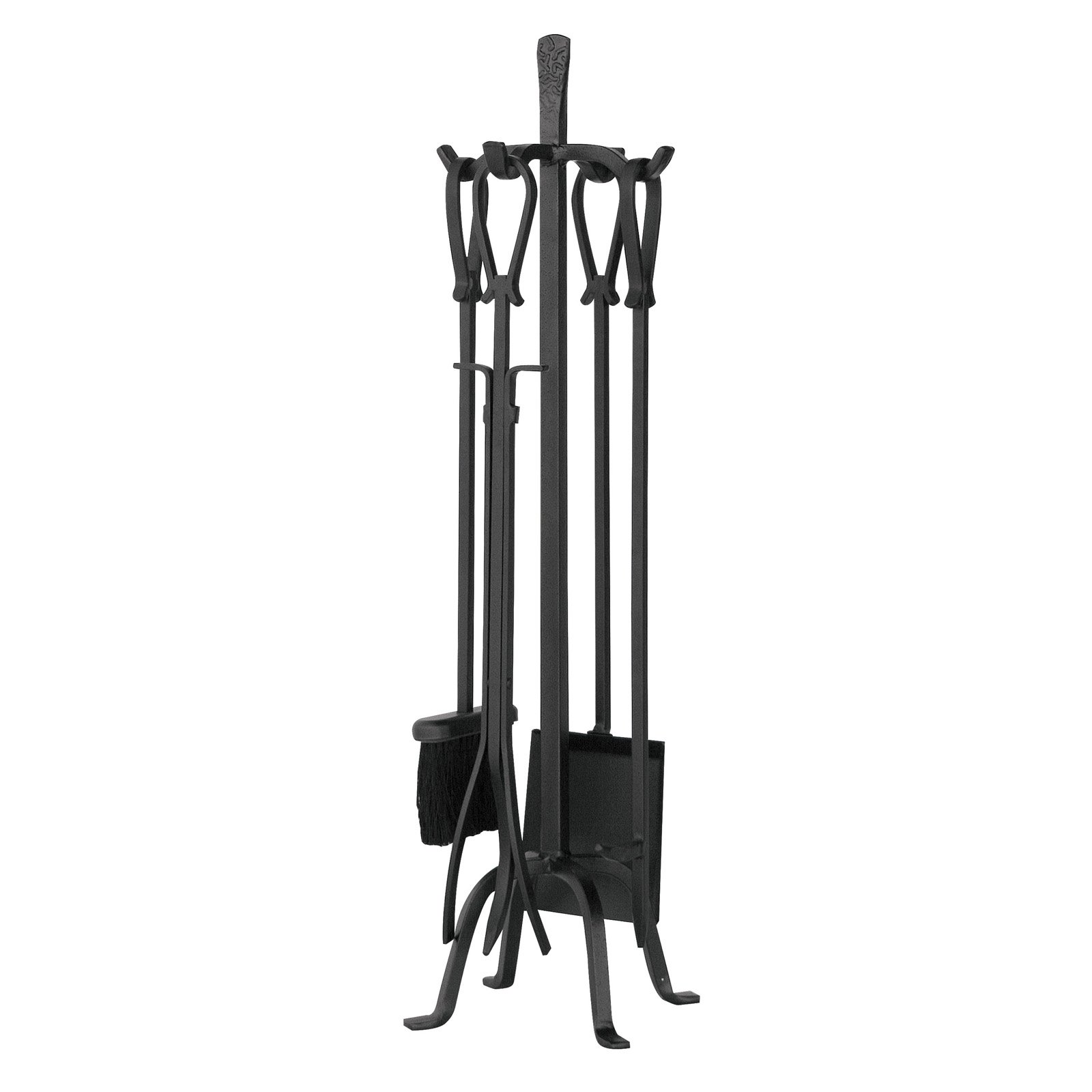Fireplace Poker Sets Uniflame 5 Piece Iron Fireplace Tool Set Loop Handles