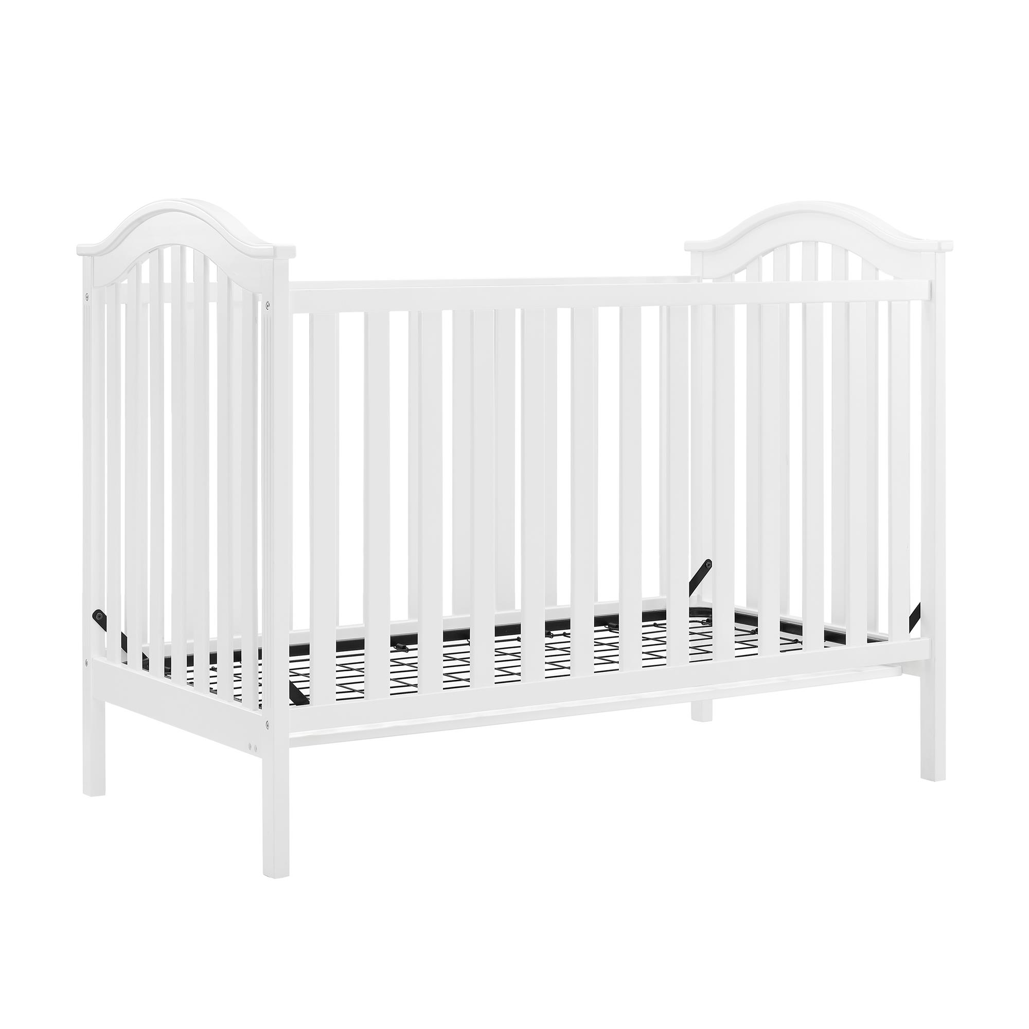 Baby Relax Adelyn 2 In 1 Convertible Crib White Walmart Com Walmart Com
