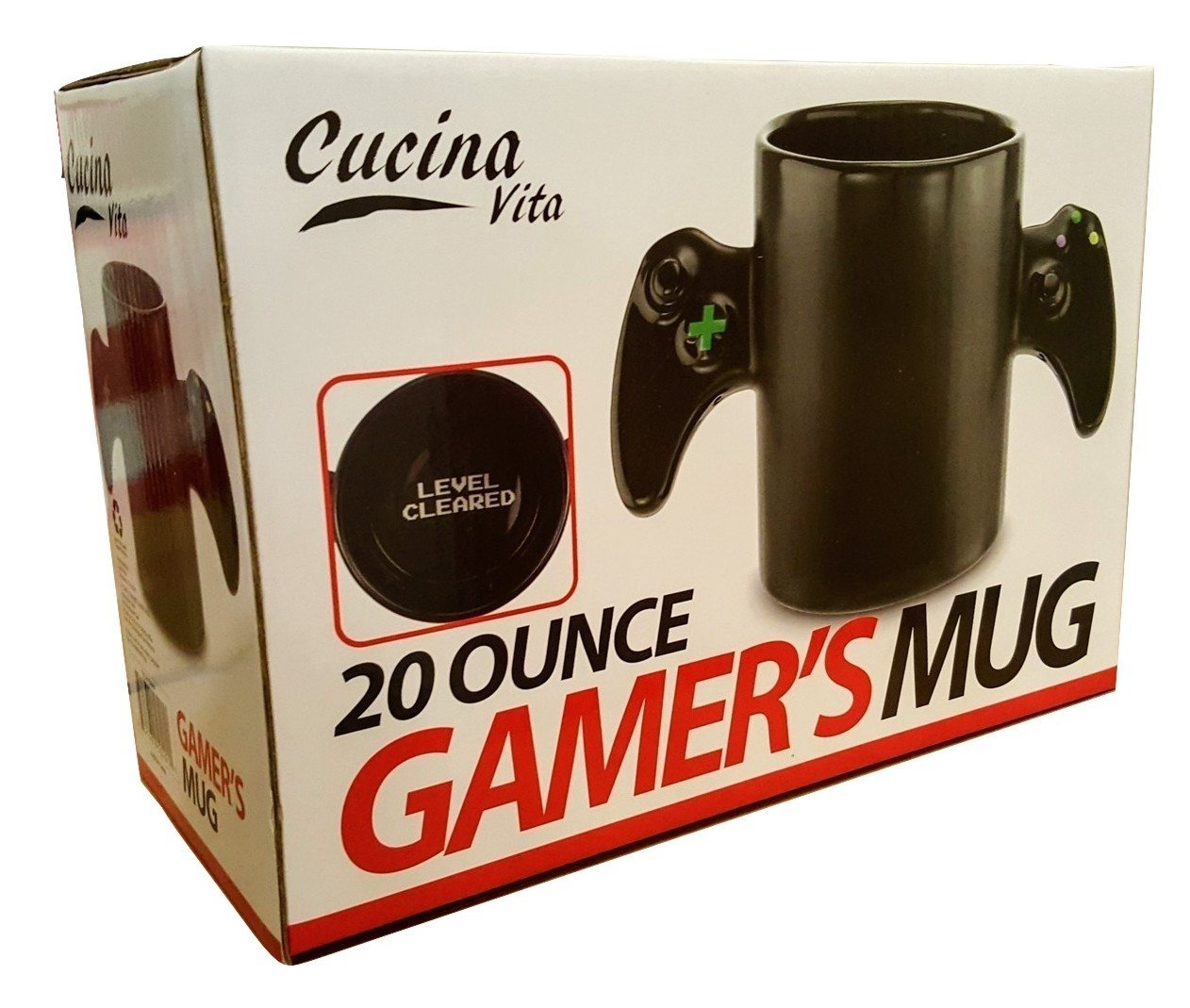 Cucina Vita Mug Cucina Vita 20 Ounce Gamer S Mug Reveal A Level Cleared Message Once You Finish Your Drink Perfect For Any Gamer