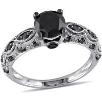 1-1/4 Carat T.W. Black Diamond 10kt White Gold Engagement ...