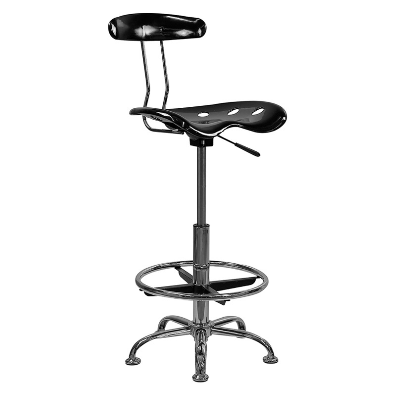 Stool Chair Adjustable Height Drafting Stool With Tractor Seat Multiple Colors