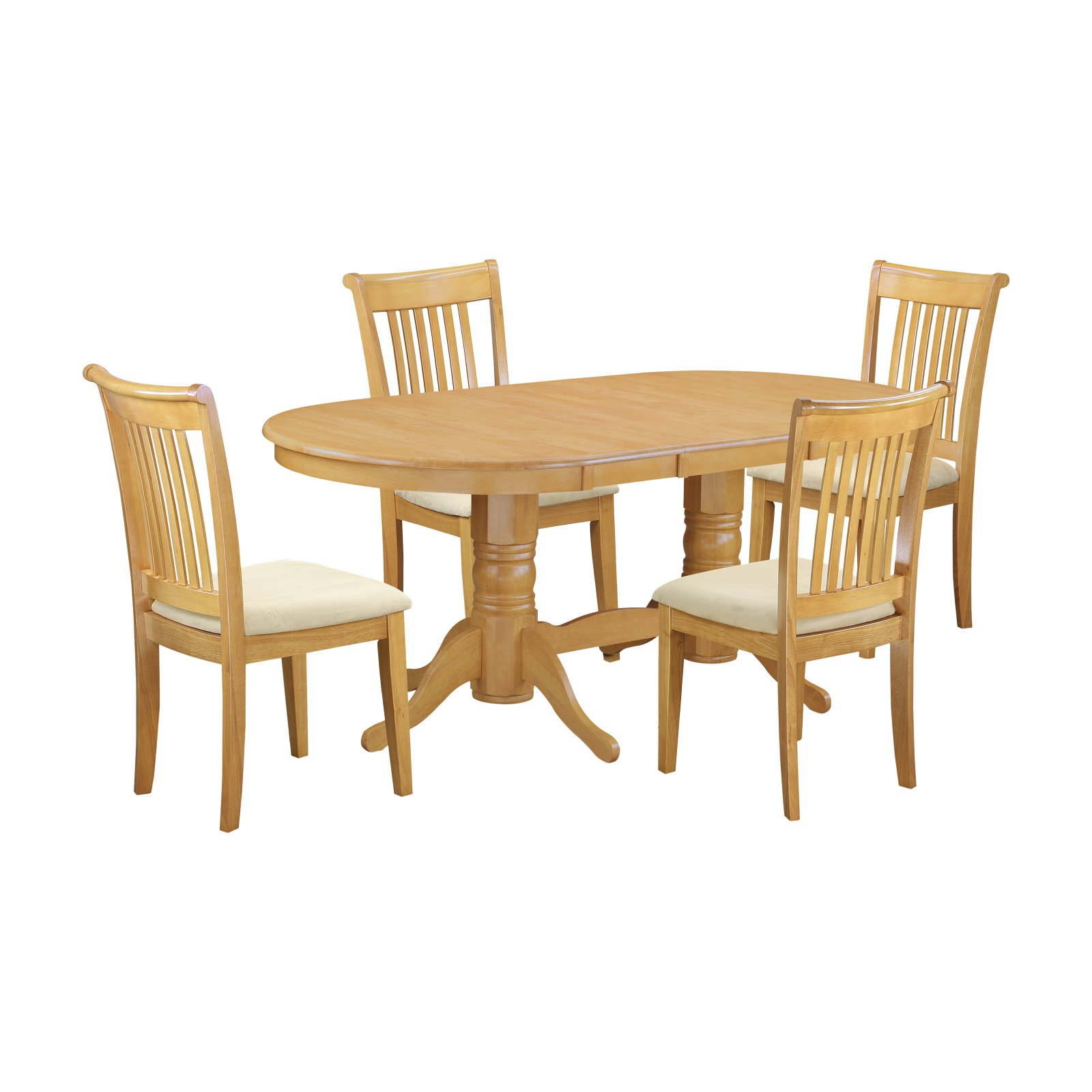 Extending Oak Table East West Furniture Vancouver 5 Piece Extending Dining Table Set With Cushioned Chairs Oak