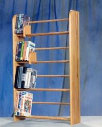 Solid Oak 4 Row Dowel DVD/VHS Rack - Walmart.com