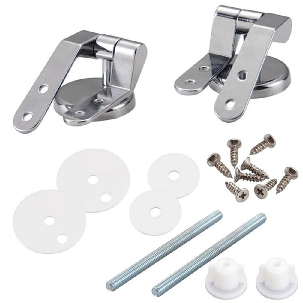 Toiletset Accessoires Zinc Alloy Replacement Toilet Seat Hinges Mountings Set Bathroom Accessories