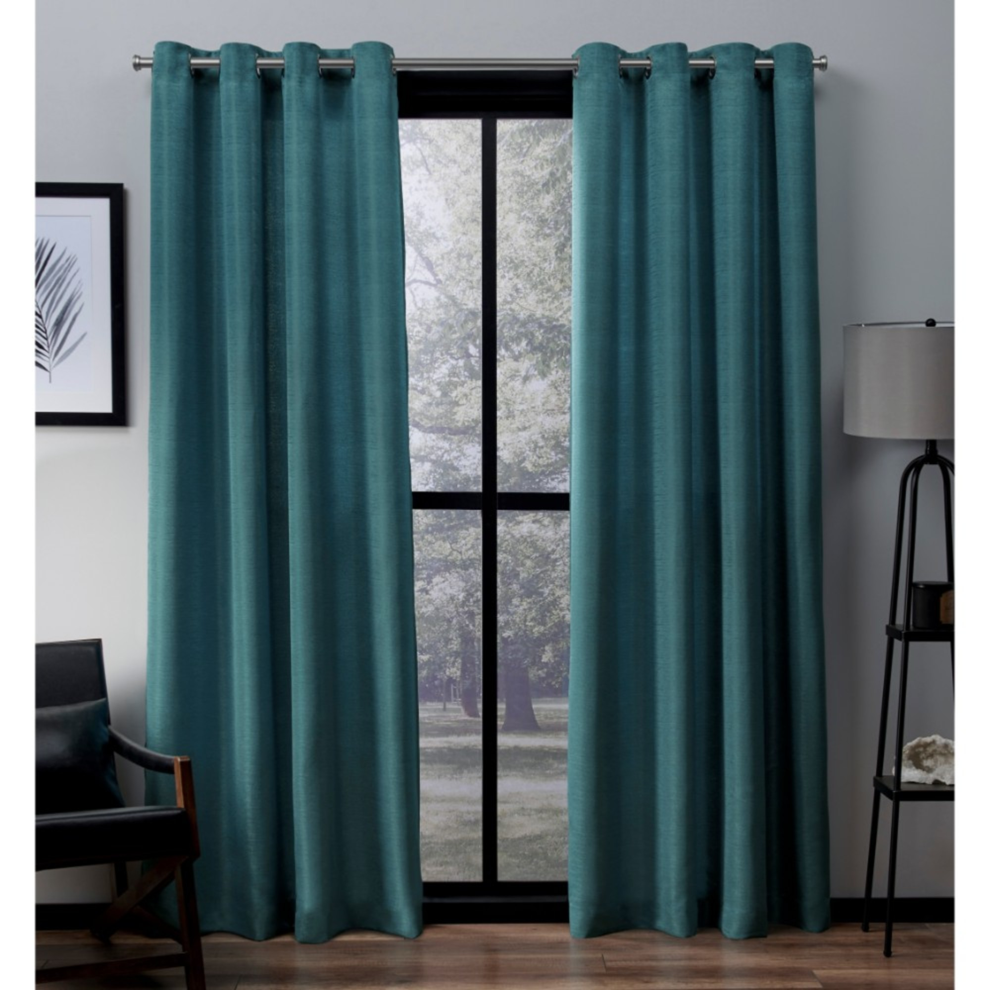 Faux Silk Curtains Exclusive Home Curtains 2 Pack Virenze Faux Silk Grommet Top Curtain Panels