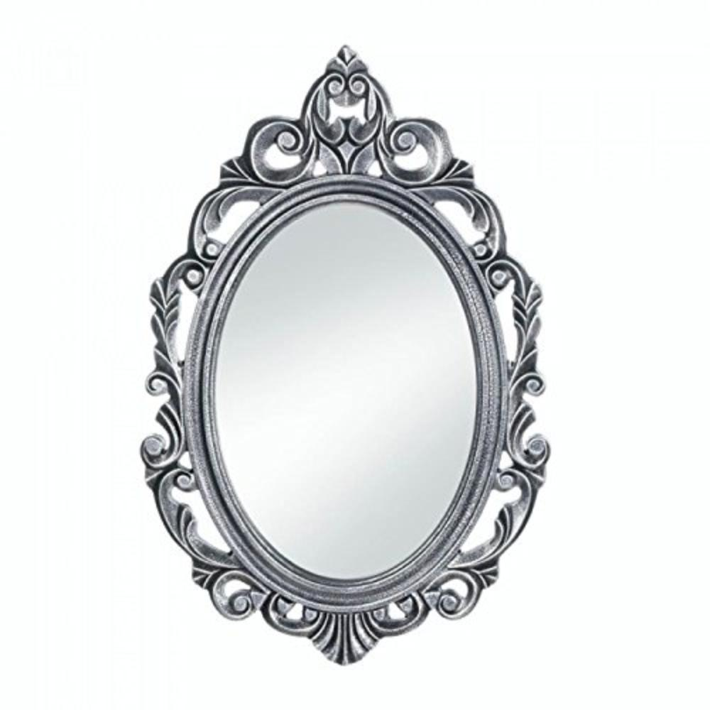 Oval Mirror Wood Frame Silver Royal Crown Oval Mirror Wood By Accent Plus