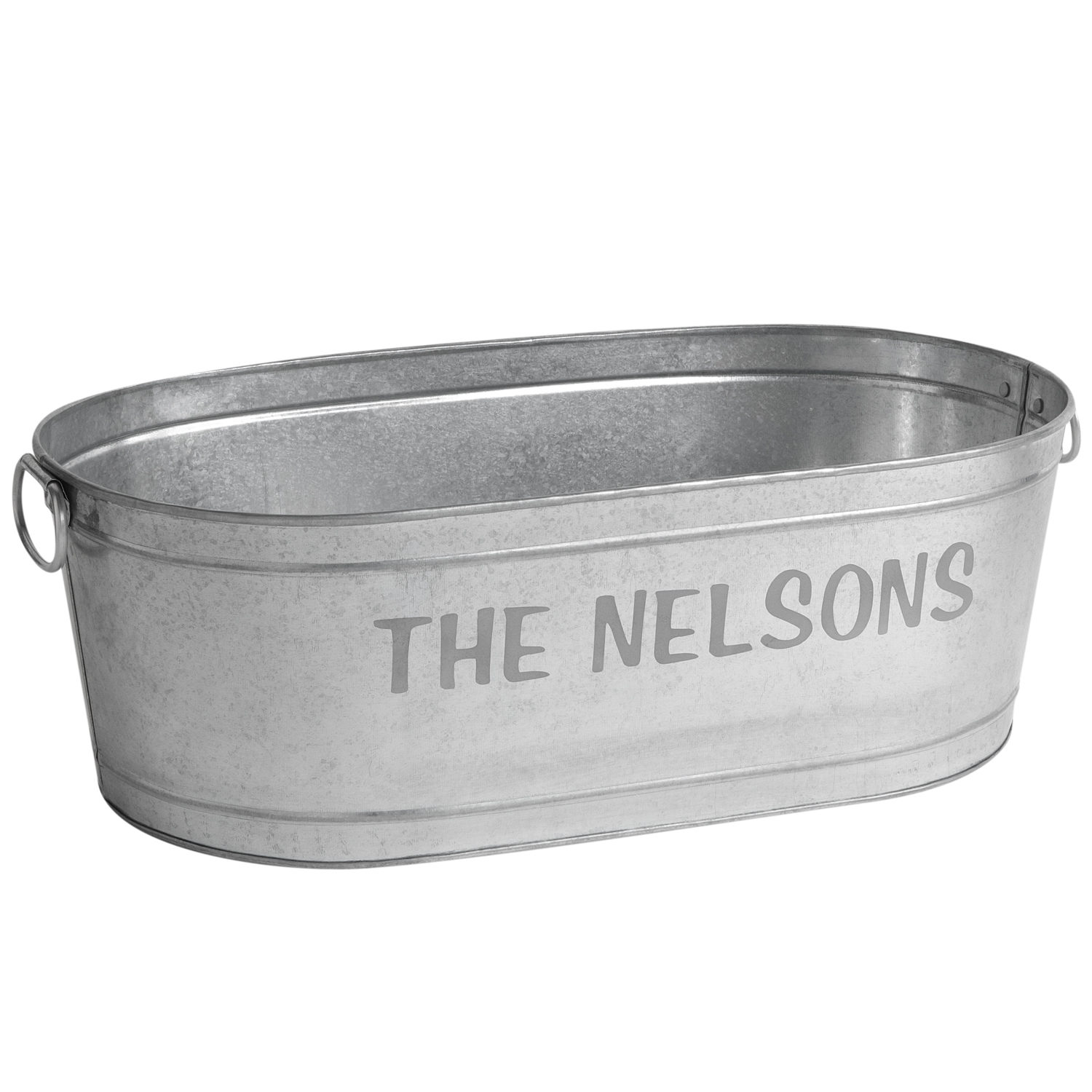 Metal Wash Bin Personalized Galvanized Family Name Beverage Tub Or Tub With Stand