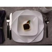 Corelle Squares Pure White 16-Piece Dinnerware Set ...