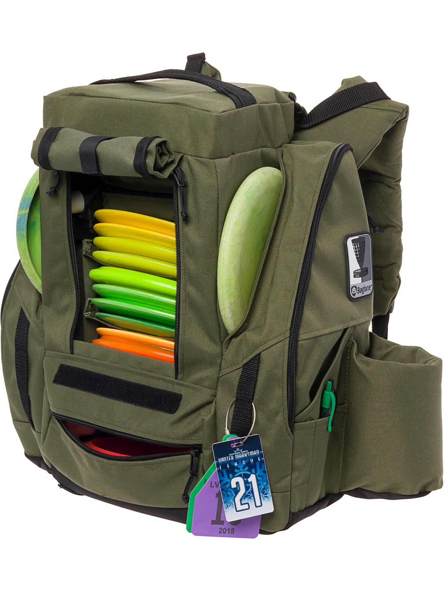 Fusion Pro Fusion Pro 25 Disc Capacity Disc Golf Frisbee Backpack Bag W Built In Seat