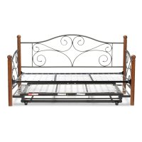 Doral Complete Metal Daybed with Link Spring and Trundle ...