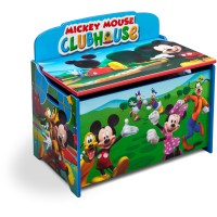 Disney Mickey Mouse Deluxe Wood Toy Box by Delta Children ...