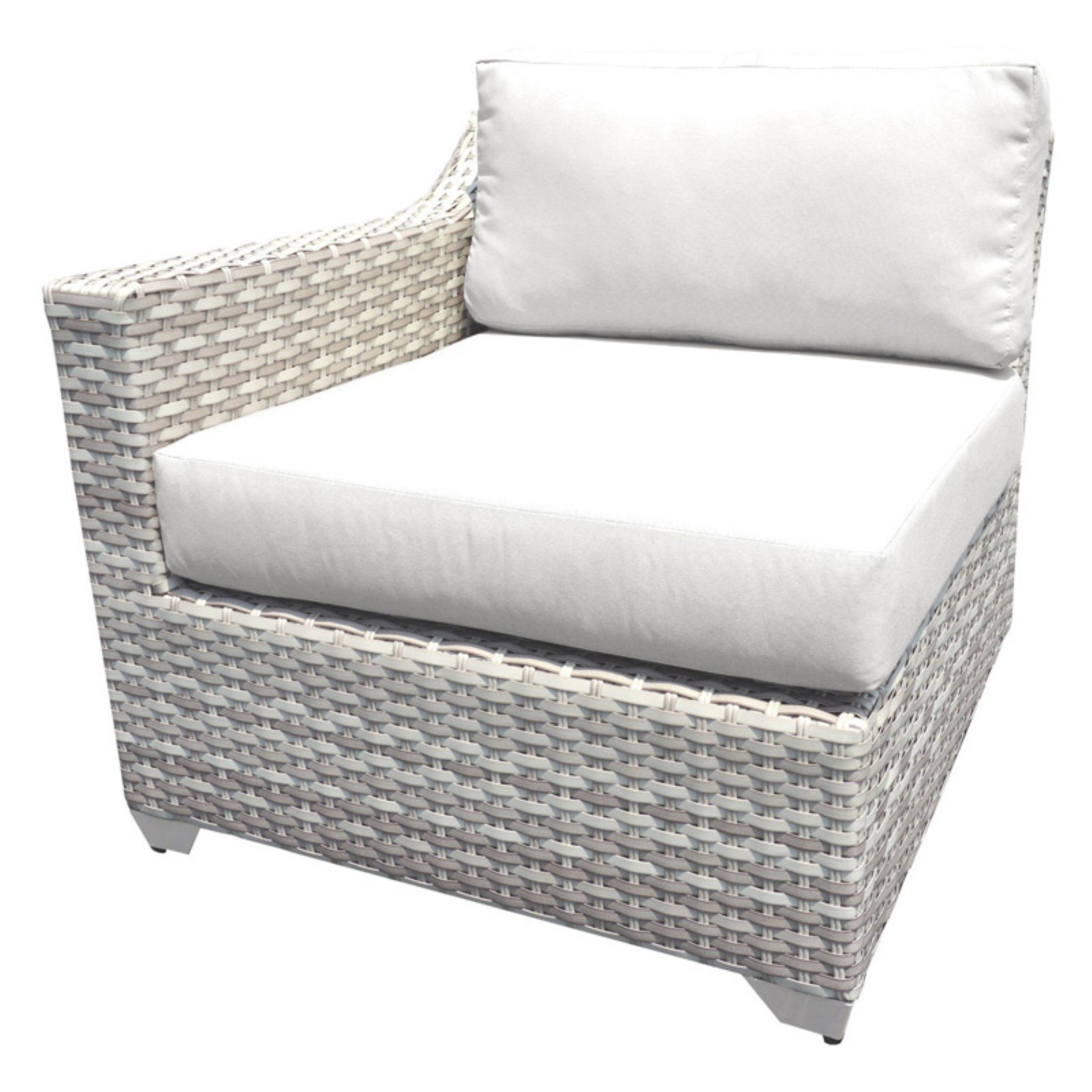 Rattan Sofa Occasion Tk Classics Outdoor Wicker Right Arm Sofa Sectional Piece