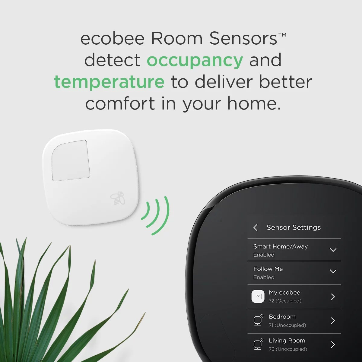 Ecobee Sensor Ecobee4 Smart Thermostat Room Sensors No Hub Required