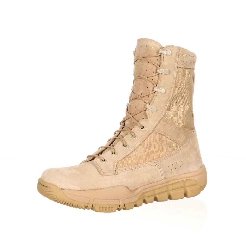 Rocky Tactical Boots Mens 8quot Lightweight Leather Desert