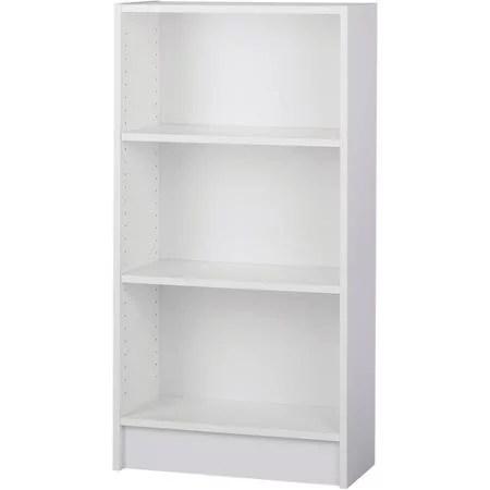 Dylan Narrow 2 Shelf Bookcase White Walmartcom