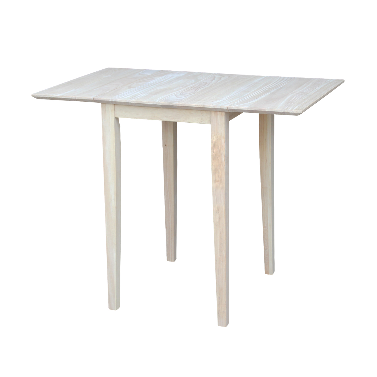 Small Dining Table International Concepts Unfinished Bardwell Small Drop Leaf Dining Table