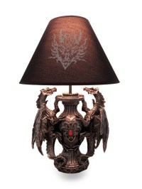 Gothic Guardians of Light Medieval Dragons Table Lamp ...