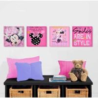 Disney Minnie Mouse 4-Pack Canvas Wall Art - Walmart.com