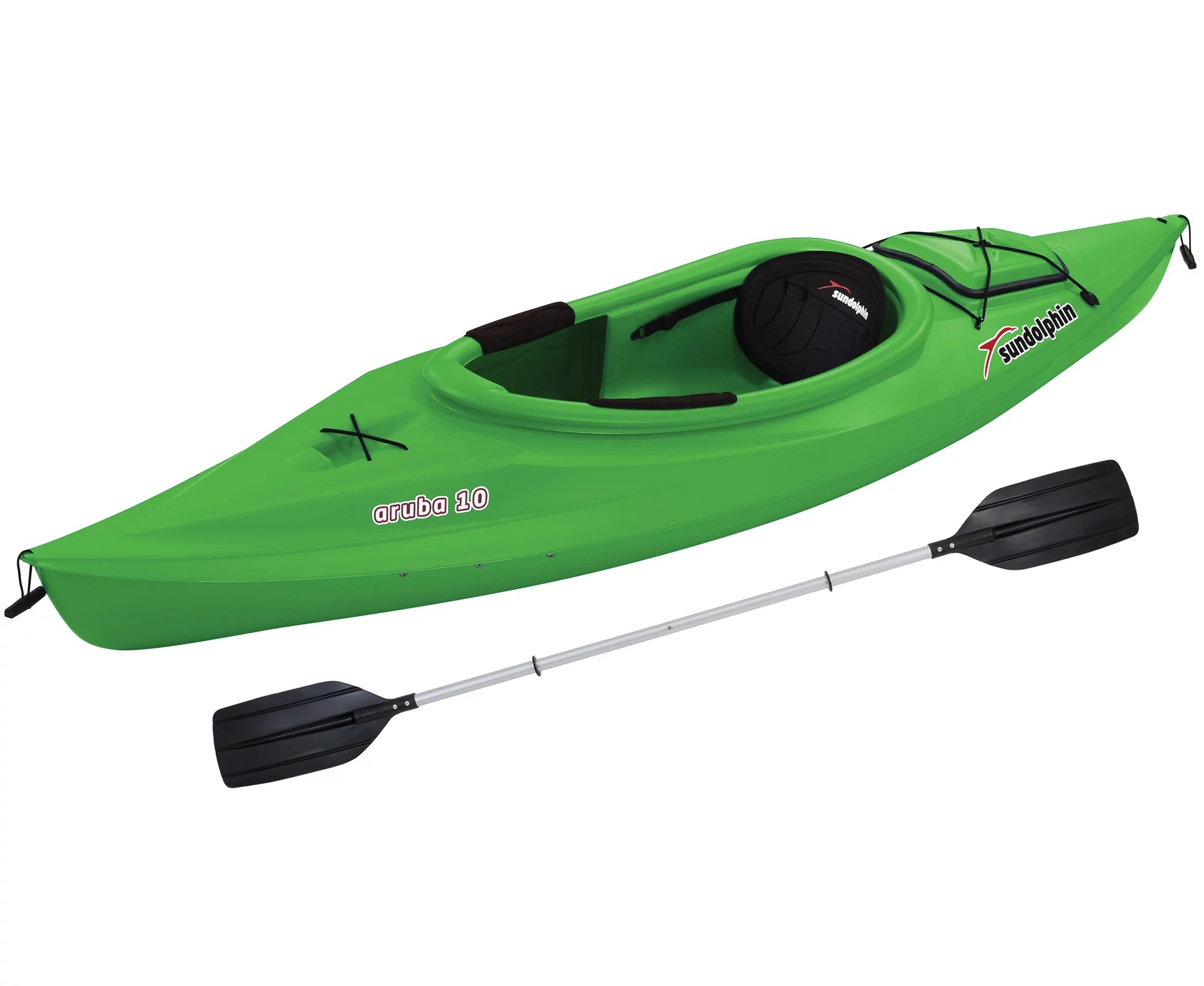 Kayak Sun Dolphin Aruba 10 Sit In Kayak Lime Paddle Included