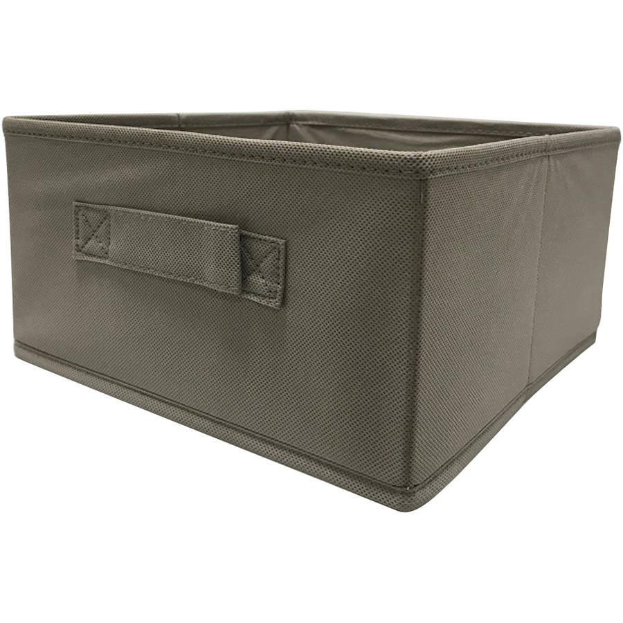 Mainstays Collapsible Fabric Storage Cube Taupe Set Of 2