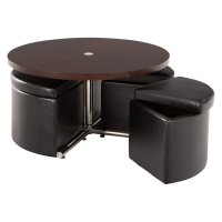 Standard Furniture Cosmo Adjustable Height Round Wood Top ...