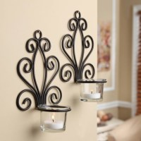 Mainstays Scroll Wall Sconce Candleholders, Set of 2 ...