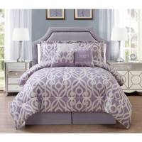 Brinley Home Patterned 7-Piece Bedding Comforter Set ...