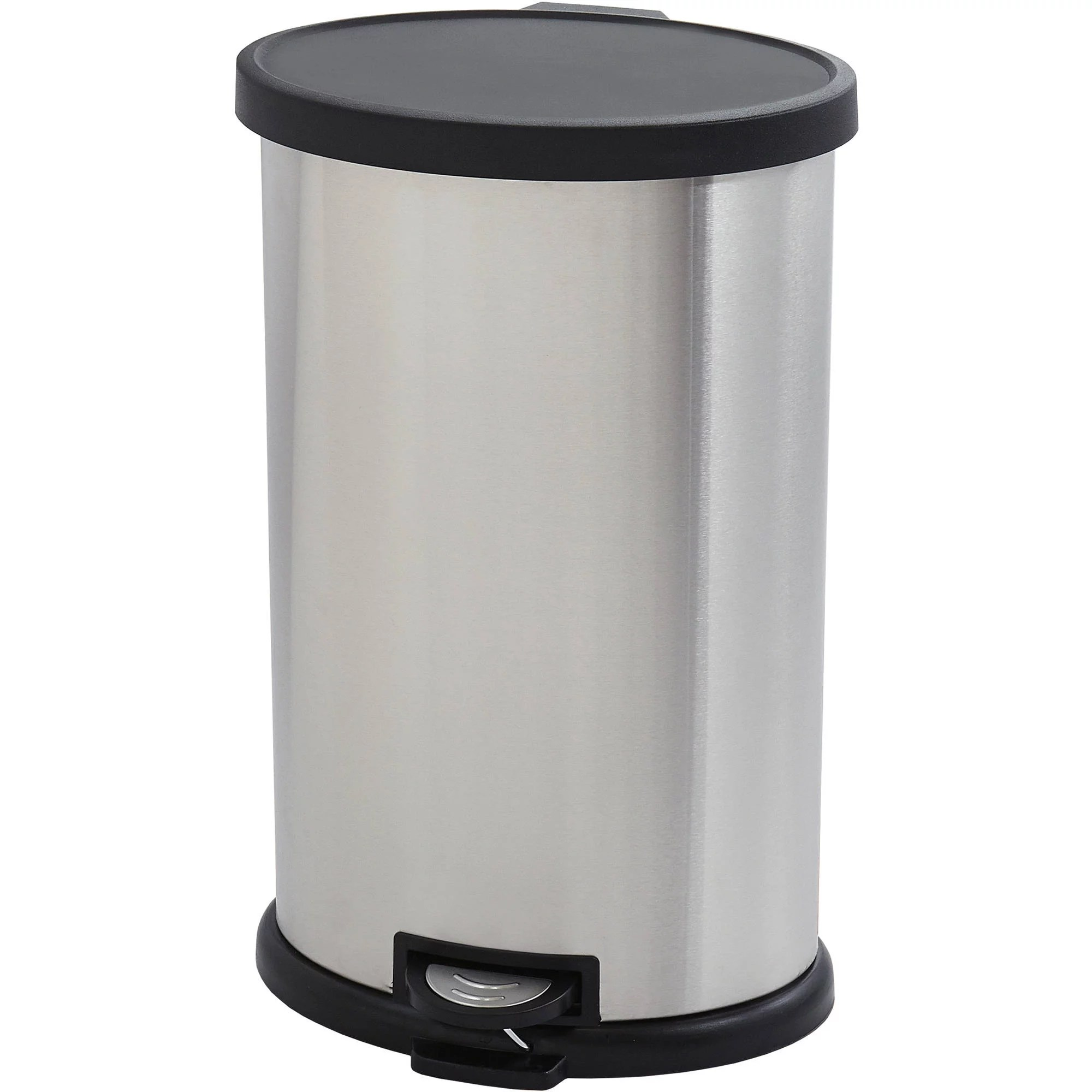 Elegant Trash Can Better Homes And Gardens 30 Liter Oval Trashcan Stainless Steel