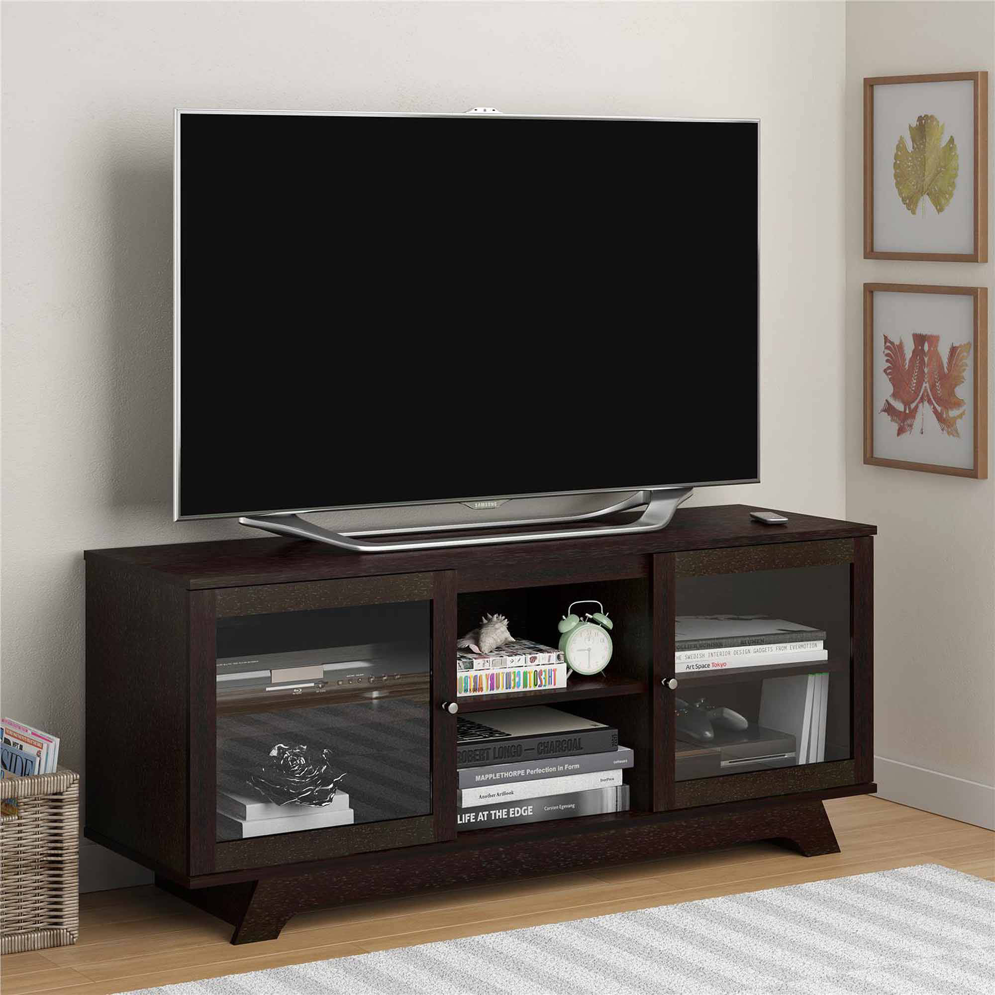 Tv Units Sauder Deco Panel Tv Stand For Tvs Up To 42