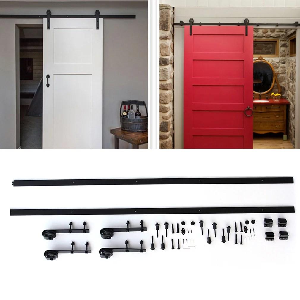 Tms 12ft Modern Style Double Interior Sliding Barn Door