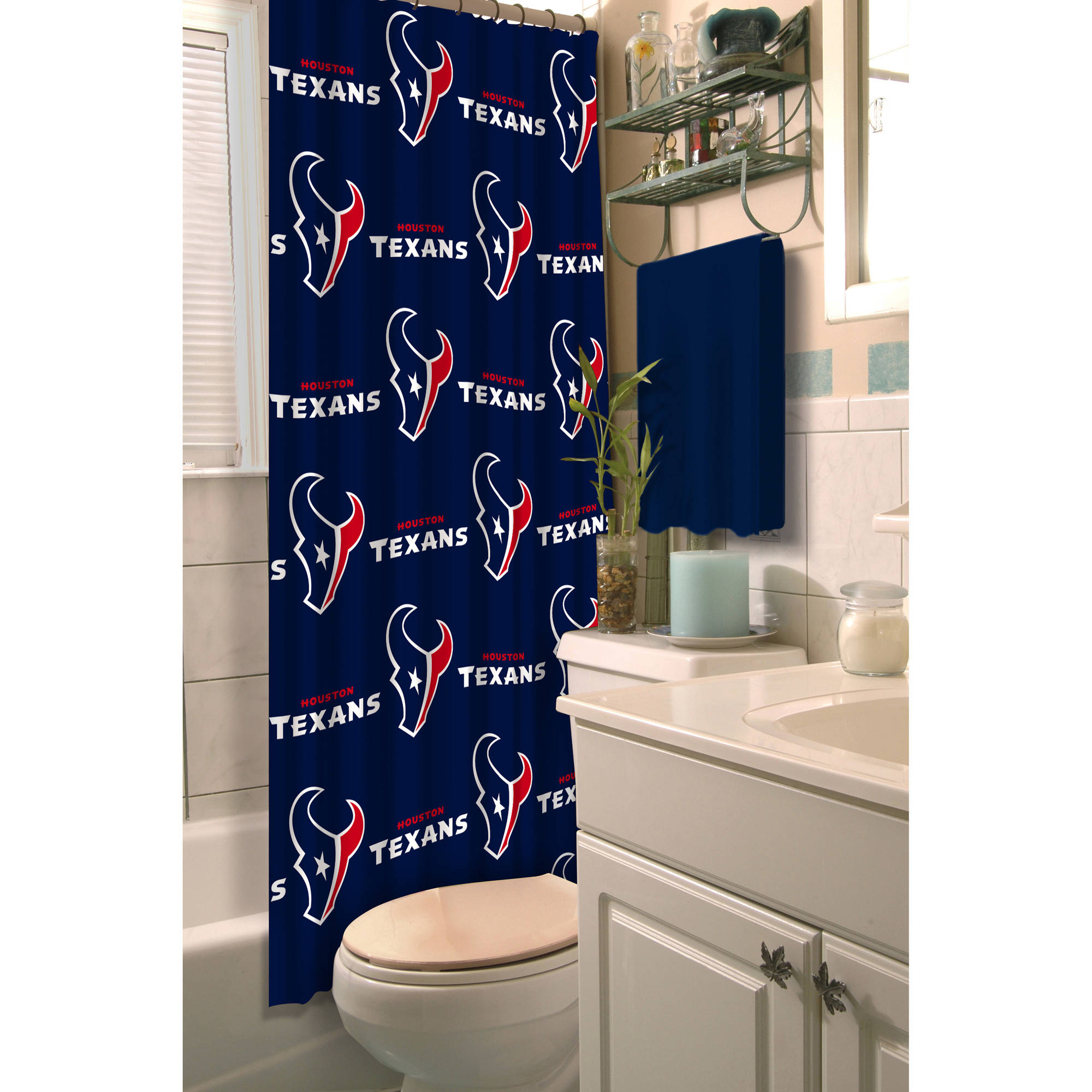 Boscov's Shower Curtains Nfl Houston Texans Shower Curtain 1 Each