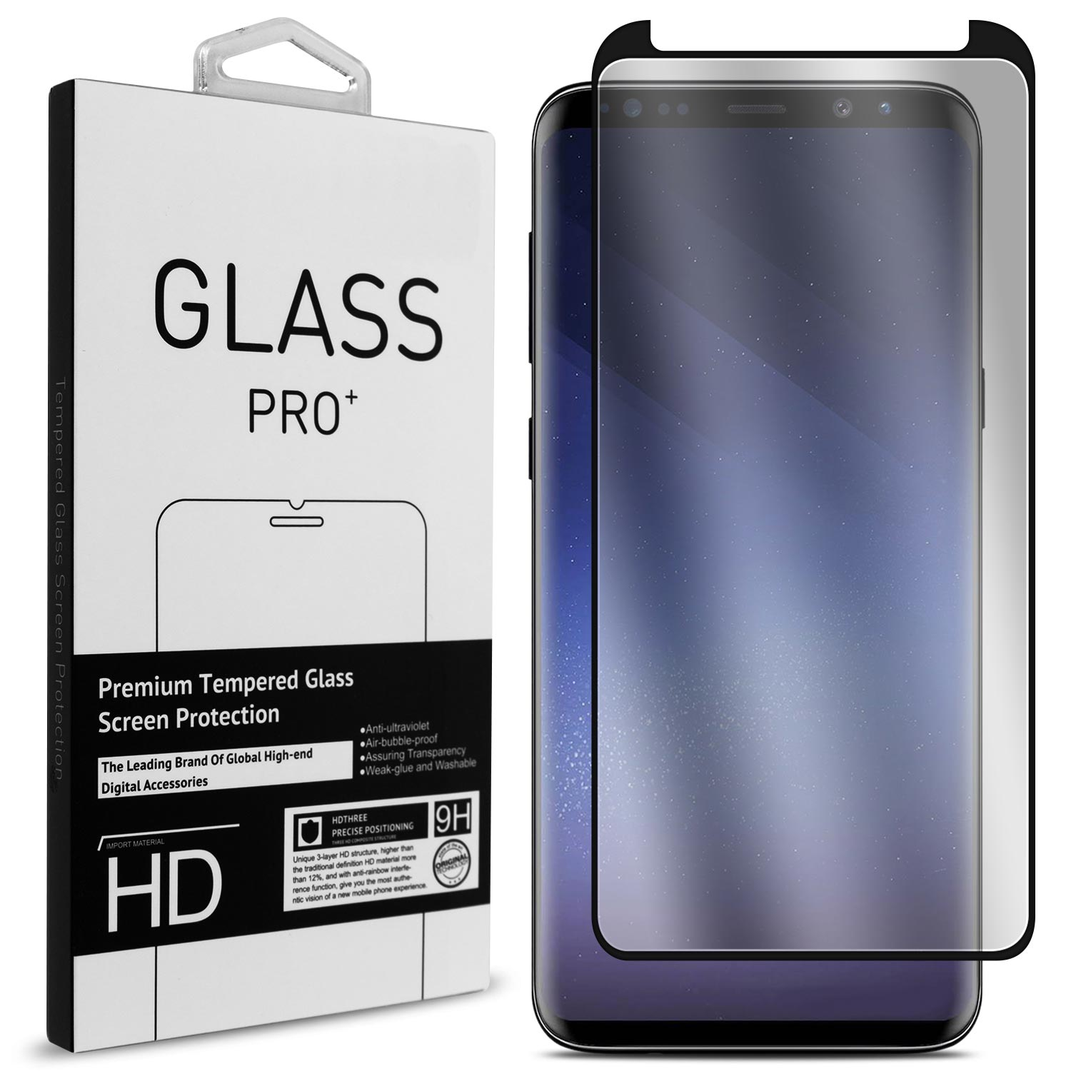 Samsung Screen Coveron Samsung Galaxy S9 Tempered Glass Screen Protector Invisiguard Series Full Coverage 9h With Faceplate Case Friendly