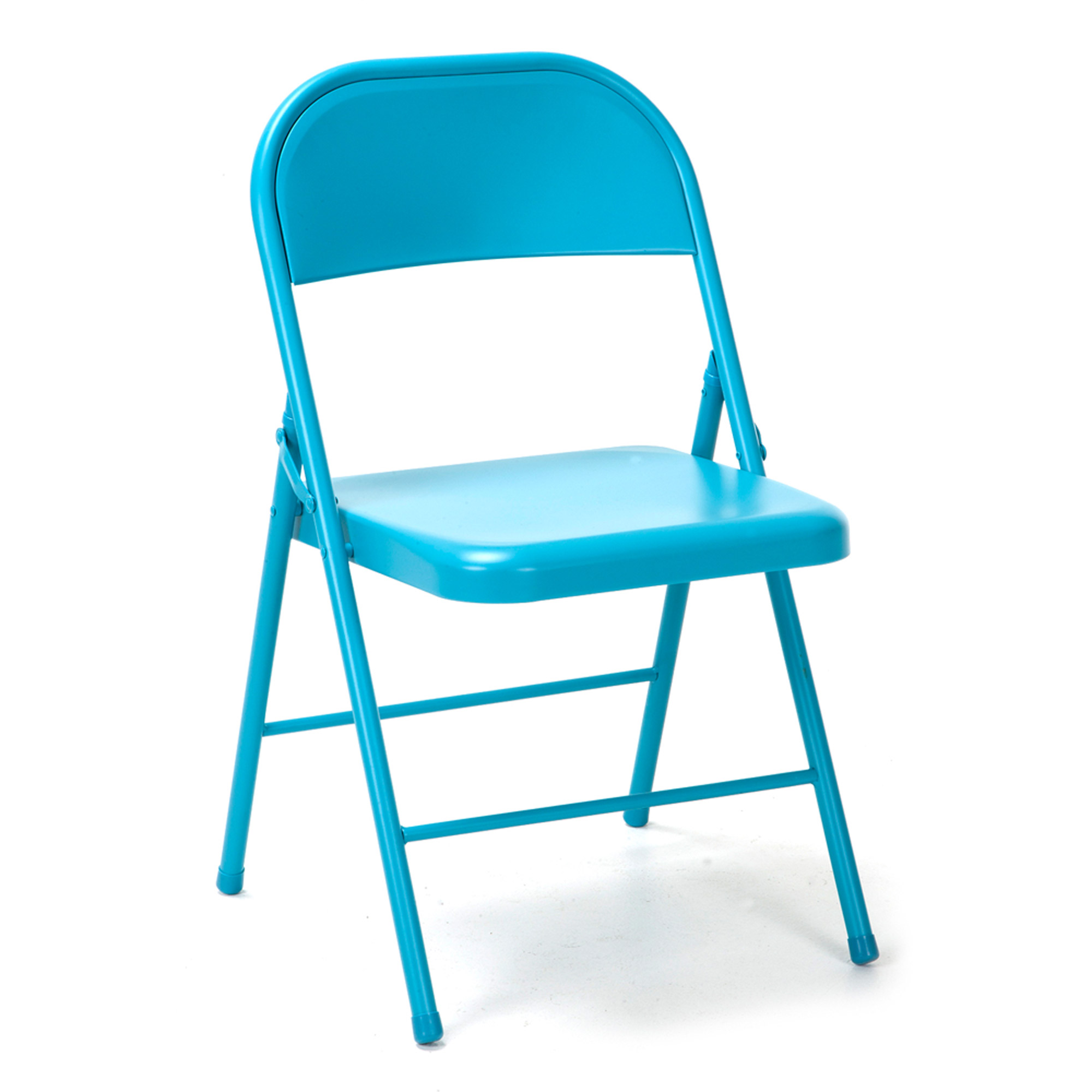 Chairs Folding Novogratz All Steel Folding Chair 2 Pack Multiple Colors