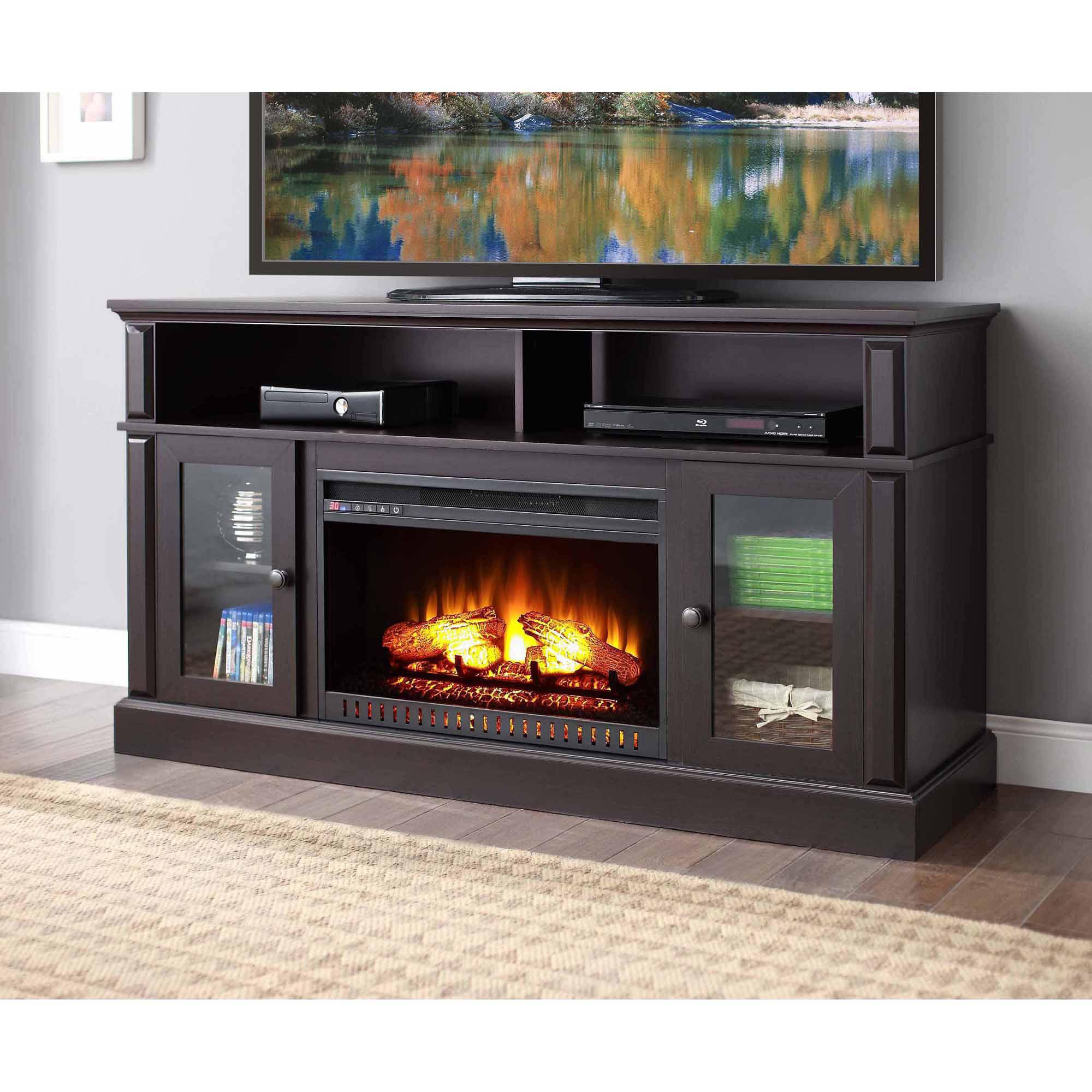 Electric Fireplaces For Sale At Walmart Homcom 14 In 1000 Watt Free Standing Electric Fireplace
