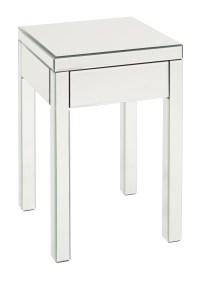 Reflections End Table in Silver Mirror Finish