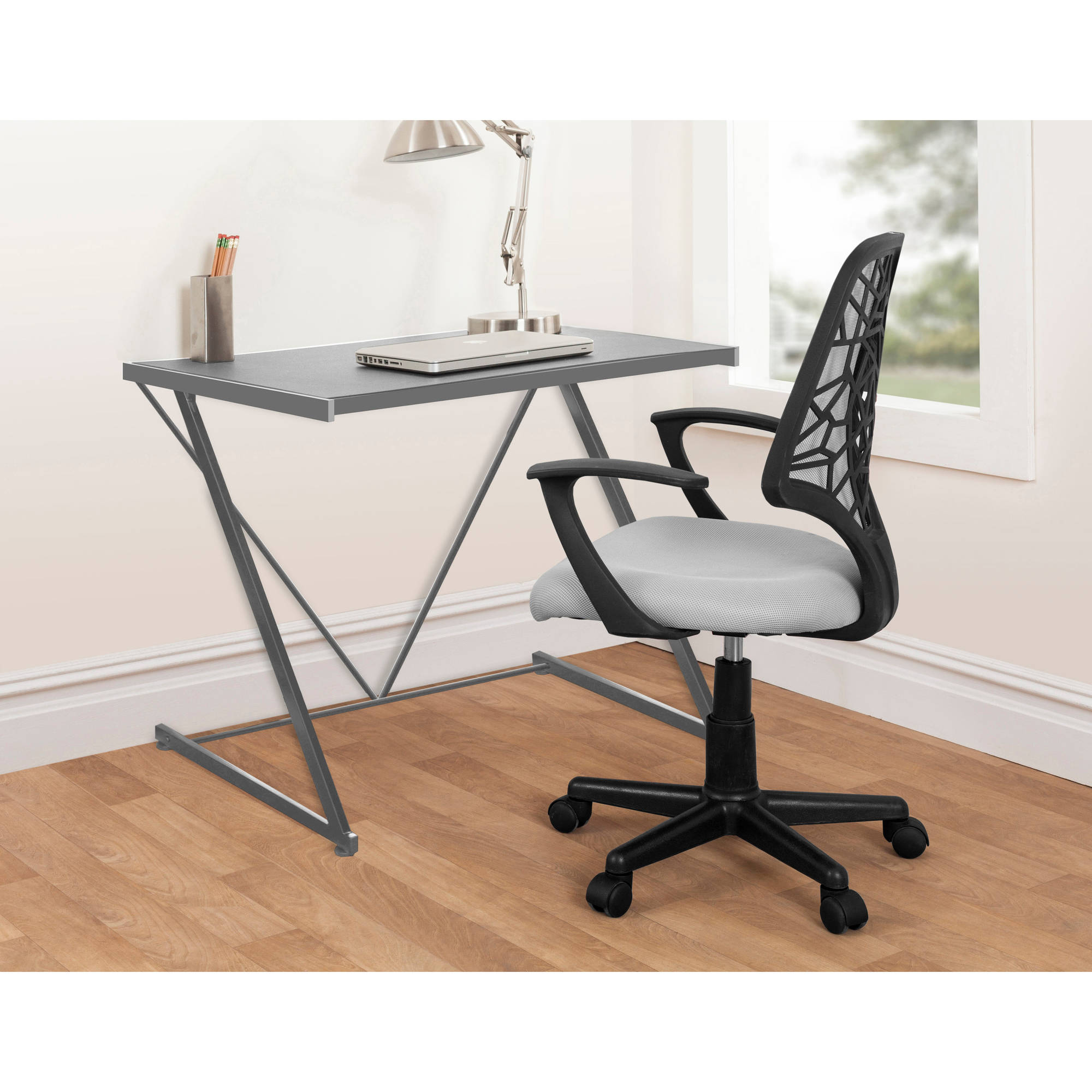Classic Table Office Urban Shop Silver Z Shaped Student Desk