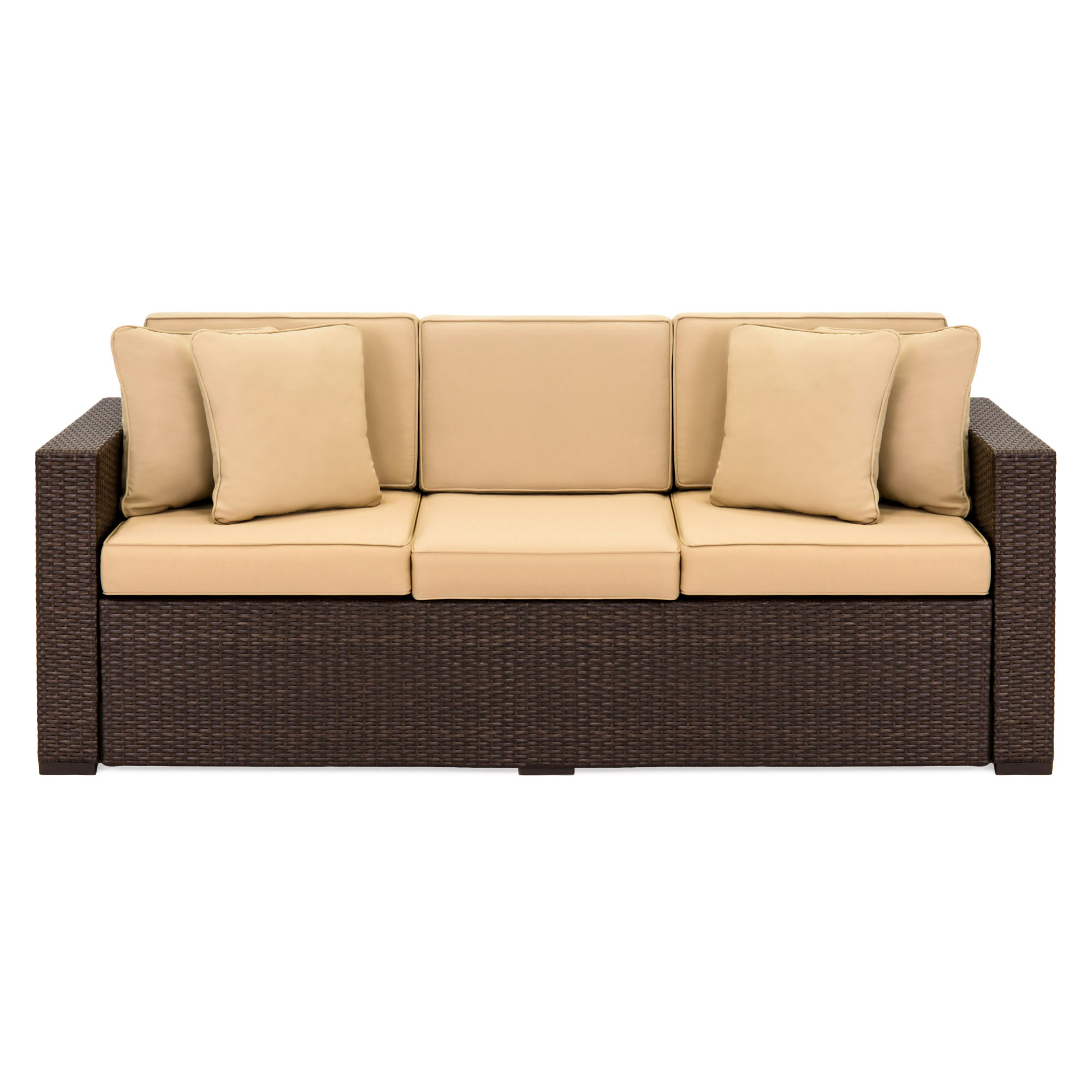 Sofa Couch Best Choiceproducts Outdoor Wicker Patio Furniture Sofa 3 Seater Luxury Comfort Brown Wicker Couch