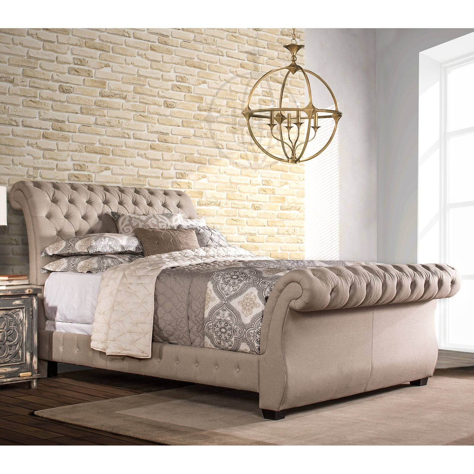 Bed Linen Hillsdale Furniture Bombay King Bed Linen Stone