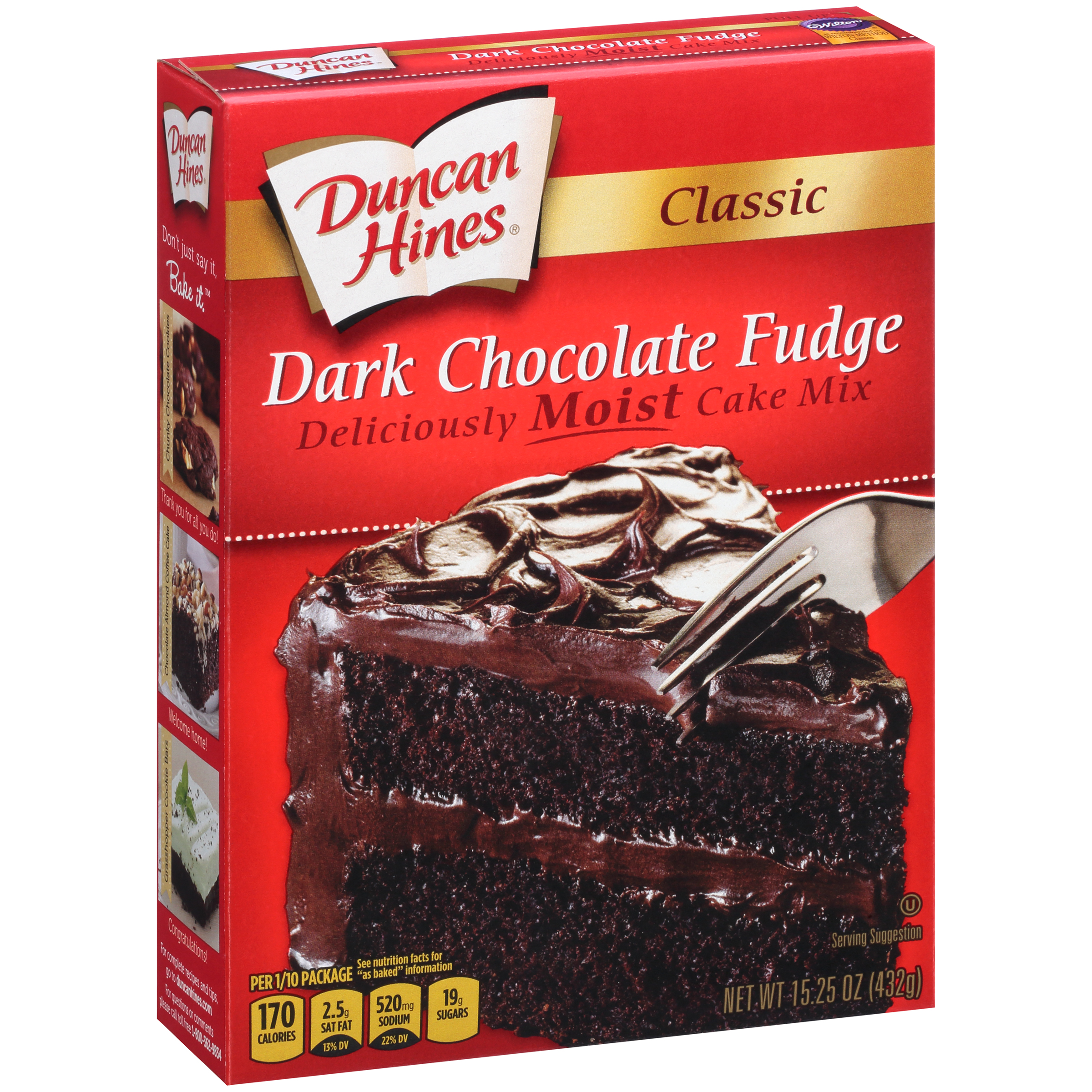 Duncan Hines Classic Dark Chocolate Fudge Cake Mix 1525