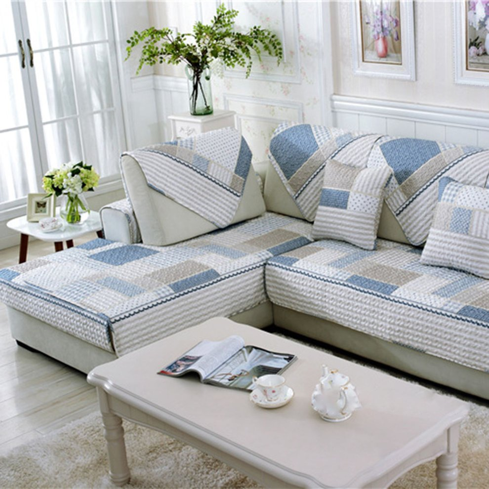 Modern Quilted Sofa Upgraded Modern Sofa Furniture Couch Seats Mat Cotton Non