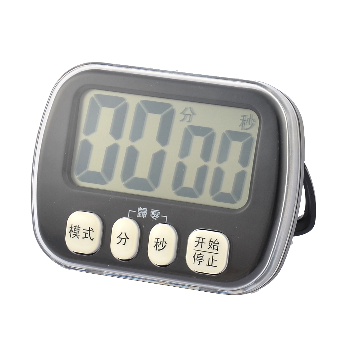 Battery Digital Abs Battery Powered Lcd Digital Second Minute Count Down Up Timer Clock Black