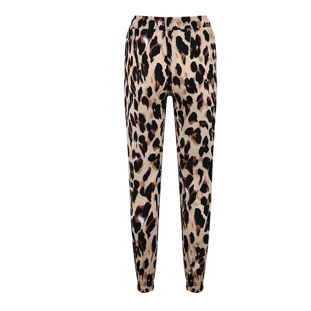 Pants S Xl Womens High Waist Leopard Print Trousers Ladies Party Loose Pants Size S Xl