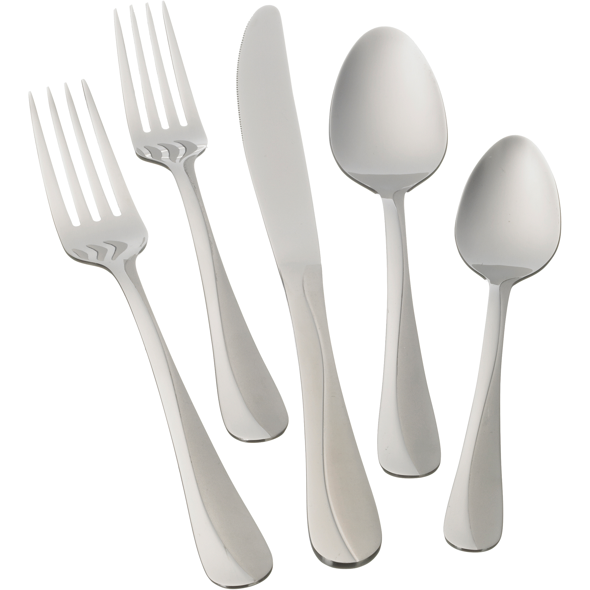 Discount Stainless Flatware Mainstays Whitney Flatware Set 20 Piece Stainless Steel