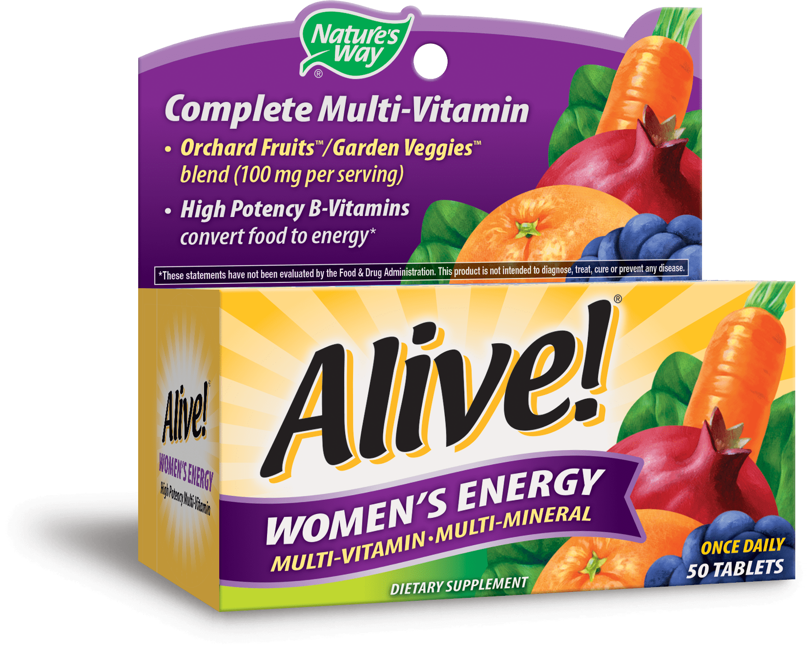 Foods Vitamin B 50 Natures Way Alive Womens Energy Multivitamin Supplement Tablets 50 Count