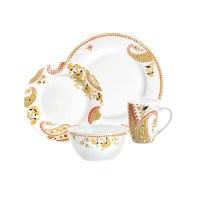Rachael Ray Dinnerware Paisley 4-Piece Porcelain ...